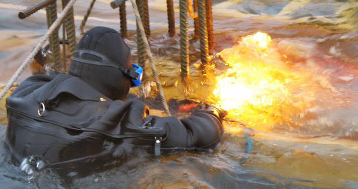 Welding and cutting of metals under water